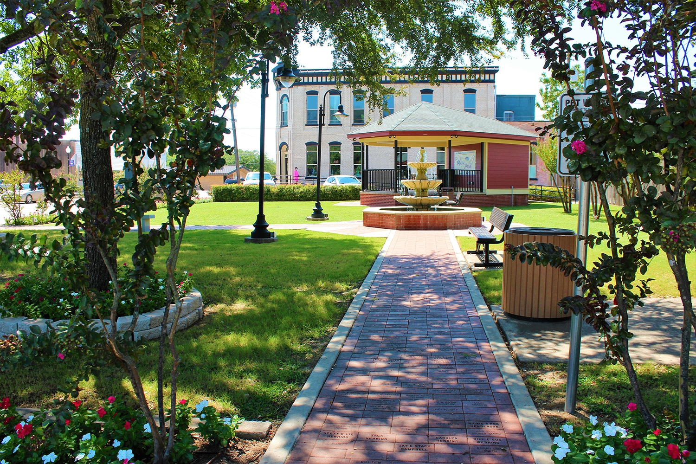 Dorothy Fielder park gazebo in Historic downtown Van Alstyne