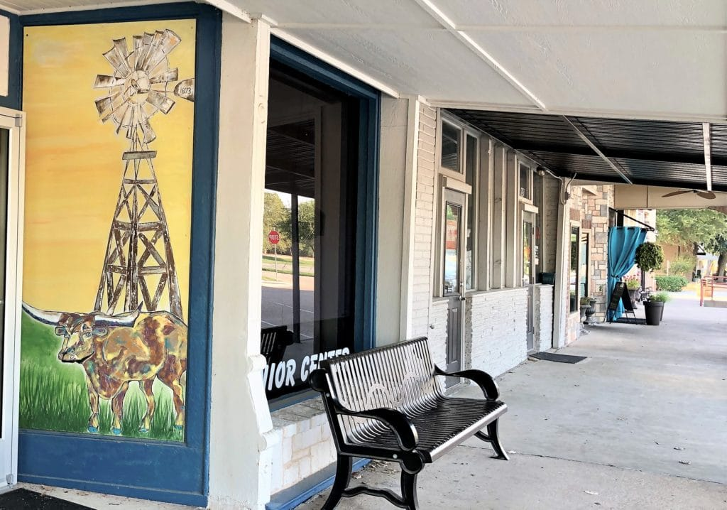 Senior Center exterior in Historic downtown Van Alstyne