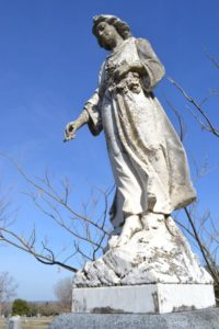 Angel statue from Van Alstyne Cemetery