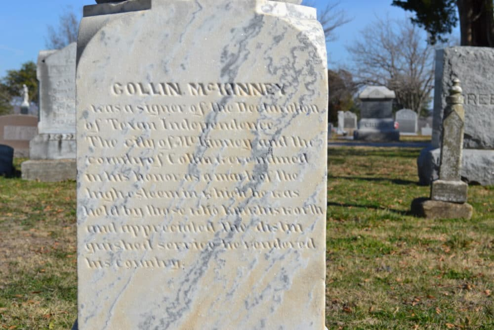 Collin McKinney's resting place